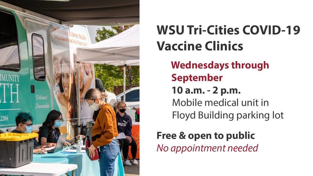 WSU Tri-Cities COVID-19 Vaccine Clinics