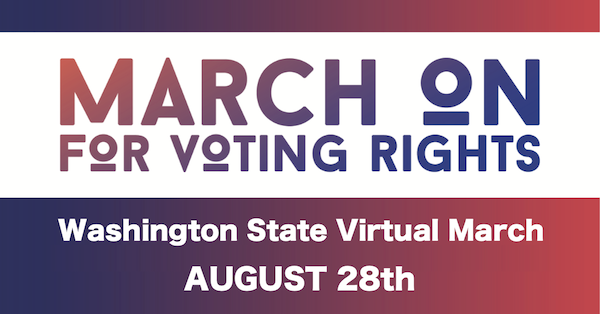 March on for Voting Rights logo